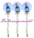 Silvesterdeko, 3 Ballondeko-Luftballons Sekt