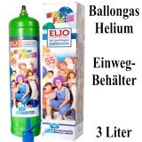 Ballongas Einwegflasche, 3 Liter Helium