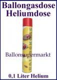 Heliumdose, Ballongas u. Heliumgas Dose, 1 Stück Ballongasdose